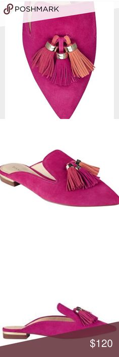 🔥HOT🔥Ivanka Trump PINK Mules W Tassels NEW 8.5 🔥HOT!🔥Ivanka Trump Sexy FUSCHIA/HotPink w Orange Tassel Accents Mules 🔥❤️These are super new 4 Spring&Incredibly stylish. New. Never worn. Msrp $120 ++🦋🦋I had a feeling they'd sell like crazy so I grabbed a Pair For You 💜💜I saved them until 2day for my pff's 💖👀⭐️PARTY 2Night 10 pm EST HOST @warrior04 💖👀⭐️They are well worth every$👀 in every color -❤️I hope you love them!! ❤️one pair 8.5 avail❤️ 💜but you can req your size -I can…