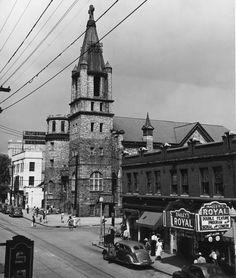1940s view of Atlanta's Auburn Avenue including Big Bethel AME Church.