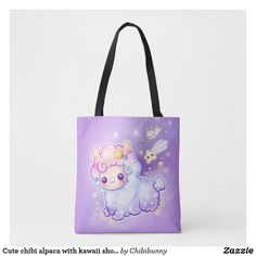 Shop Cute chibi alpaca with kawaii shooting star tote bag created by Chibibunny. Kawaii Alpaca, Cute Alpaca, Kawaii Chibi, Cute Chibi, Light Purple Background, Shooting Stars, Llamas, Edge Design, Cute Animals