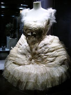 tutu from Anna Pavlova's performance of the Dying Swan in 1905
