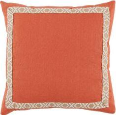 #05 Spice Linen w/ Off White on Tan Camden Tape Pillow