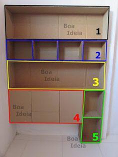 Cardboard Crafts Kids, Cardboard Box Diy, Cardboard Storage, Diy Storage Boxes, Cardboard Furniture, Craft Room Storage, Table Decor Living Room, Study Room Decor, Diy Box Organizer