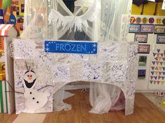 Frozen role play Pre K Activities, Winter Activities, Classroom Crafts, Preschool Crafts, Early Years Classroom, Role Play Areas, Dramatic Play Area, Ice Castles, Frozen Theme