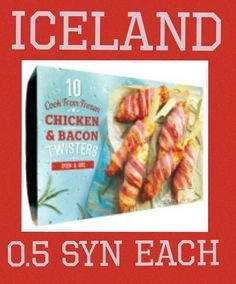 Iceland chicken and bacon twisters