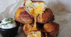 Bacon Mashed Potato Cheese Bombs