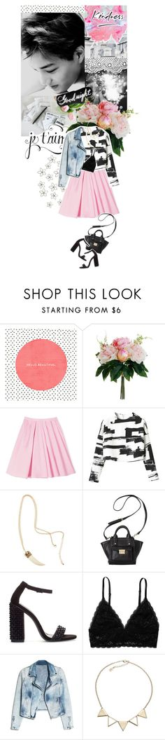 """Tell Me Goodnight"" by djdanny ❤ liked on Polyvore featuring Nameless, La Vie en Rose, Carven, H&M, 3.1 Phillip Lim, Zara, Monki, MANGO and Accessorize"