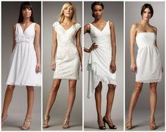 Rustic Short Wedding Gowns from rusticweddingchic.com