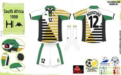 South Africa home kit for the 1998 World Cup Finals.