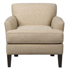 Living Room Furniture - Marcus Chair w/ Milford II Toast Fabric