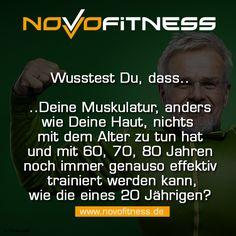 Die Muskulatur kann in jedem alter gleich trainiert werden.