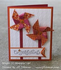 Sweet & Sour Specialty Pinwheel Card by jillastamps - Cards and Paper Crafts at Splitcoaststampers