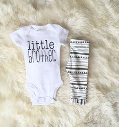 little brother baby boy take home outfit by PaisleyPrintsSpokane