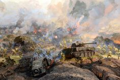 The Battle of Prokhorovka was fought on 12 July 1943 near Prokhorovka, 87 kilometres southeast of Kursk in the Soviet Union, during the Second World War. Taking place on the Eastern Front, the engagement was part of the wider Battle of Kursk, and occurred when the 5th Guards Tank Army of the Soviet Red Army attacked the II SS-Panzer Corps of the German Wehrmacht in one of the largest tank battles in military history.