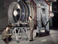 Researchers View the Small Low Cost Engine and the Large Quiet Engine - PICRYL Public Domain Image