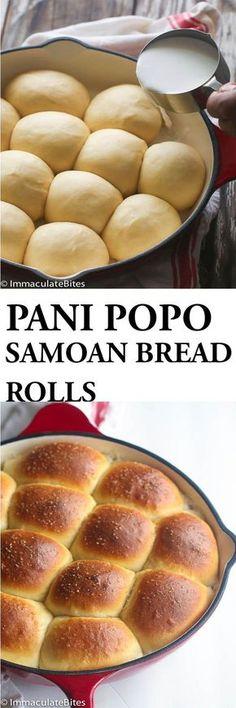 Samoan Coconut Bread Rolls - Decadent Sweet Dinner Rolls baked in coconut milk.  Immaculate Bites