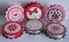 These were so fun! Here is a quick and easy treat for your valentine:) Just attach a scalloped circle (using the SU scallop punch) with SNAIL or a glue dot (or two) to a York peppermint patty. Valentine Love Cards, Valentines Day Treats, My Funny Valentine, Valentine Day Crafts, Valentine Cupcakes, Heart Cupcakes, Pink Cupcakes, Happy Hearts Day, Peppermint Patties