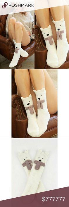 ⛄COMING SOON⛄Polar Bear❄Fuzzy Socks ❄Polar Bear❄Fuzzy SocksWinter Holiday Gift Uber Soft. OSFA.⛄❄ LIKEand COMMENT for notification of arrival Accessories Hosiery & Socks