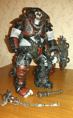Neca Gears of War 2 Boomer Mauler Action Figure Loose Read Description