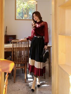 Korean Women`s Fashion Shopping Mall, Styleonme. Modest Outfits, Classy Outfits, Modest Fashion, Girl Fashion, Fashion Dresses, India Fashion, Korean Fashion, Japan Fashion, Korean Outfits