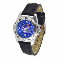 Boise State Broncos NCAA AnoChrome Sport Ladies Watch (Leather Band) by SunTime. $53.10. Calendar Date Function. Scratch Resistant Face. Rotation Bezel/Timer. This handsome, eye-catching watch comes with a genuine leather strap. A date calendar function plus a rotating bezel/timer circles the scratch-resistant crystal. Sport the bold, colorful, high quality logo with pride. The AnoChrome dial option increases the visual impact of any watch with a stunning radial...