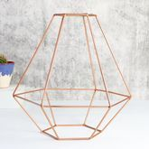 Geometric Copper Lamp Shade