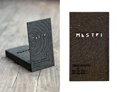 This design utilises both laser etching and laser cutting to great effect on a minimalist charcoal card.
