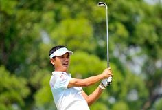 Taipei's Lin Wen-tang on Monday.  #YTPC #Golf