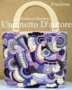 #crochet  #bag #freeform #crochet #handmade #uncinetto #bolsa
