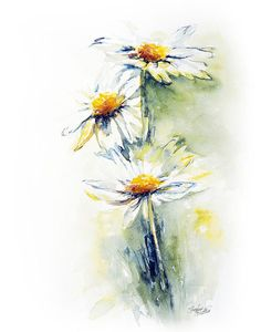 Flower Painting - Daisy Chain by Stephie Butler