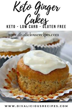 These low carb keto ginger cakes are full of flavour and baked with coconut flour. These low carb keto ginger cakes are full of flavour and baked with coconut flour. Low Carb Sweets, Low Carb Desserts, Low Carb Recipes, Baking Recipes, Dessert Recipes, Lime Recipes, Health Desserts, Cookie Recipes, Dinner Recipes