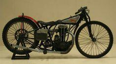 1934 Harley-Davidson CAC.  A single-cylinder bike designed for racing on a short cinder track.