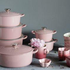 Pinterest: kgtopel Pink, kitchen, pots, pans