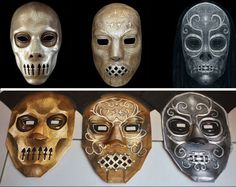 How to construct a death eater mask
