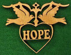 Bois Colombes  ornement de l'espoir par cedarviewgifts sur Etsy