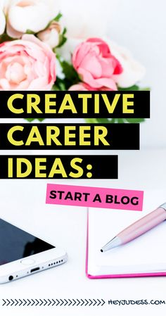 Creative Career Ideas: Start a Blog | Read this article for a Step by step tutorial on How to Start a Blog for bloggers, designers, freelancers, and solopreneurs!