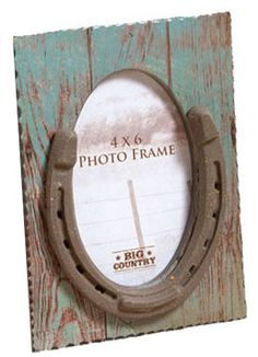Horseshoe 4 X 6 Table Top Picture Frame | ChickSaddlery.com