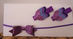 Hair Accessories Pack - Peacock Purple by UnderTheCherryTreeAU on Etsy