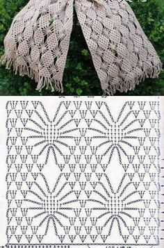 Crochet lace scarf with chartre pin Häkelmuster Openwork - crochet patterns stitchesCrochet Tutorial for Crochet, Knitting.I keep seeing inspiring crochet spiderweb stitch patterns! (series of scarf patterns)Beautiful crocheted scarf chart, and one Filet Crochet, Crochet Scarf Diagram, Poncho Au Crochet, Crochet Motifs, Crochet Stitches Patterns, Crochet Chart, Love Crochet, Crochet Scarves, Crochet Designs