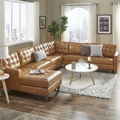 51 Best Family Room images | Leather sectional, Family room