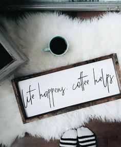 Coffee Sign | Life Happens Coffee Helps | Coffee Quote | Kitchen Decor | Coffee Bar | Fixer Upper | Farmhouse Sign | Farmhouse Decor | Pallet Sign | Reclaimed Wood | DIY | Pallet Art | Rustic Sign | Rustic Home Decor | Quote Sign | Bedroom Decor | Shabby Chic | Pallet Crafts | Home Decor | Wood Sign | Farmhouse | Farmhouse Sign | Farmhouse Decor