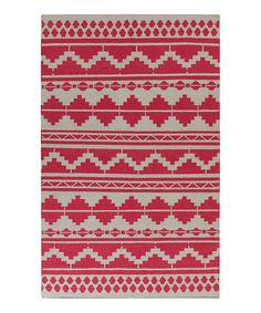 Look what I found on #zulily! Red & Gray Wool Rug #zulilyfinds