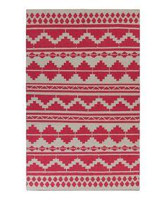 Look what I found on #zulily! Red & Gray Wool Rug #zulilyfinds