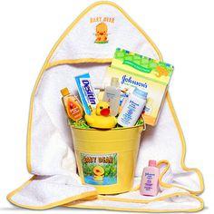Baby's Bath Time Yellow - Gift Basket