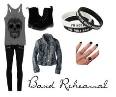 """Band Rehearsal"" by christieveg on Polyvore featuring Paige Denim, Dr. Martens, Melanie Auld and American Eagle Outfitters"
