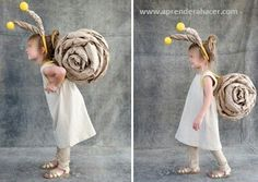 7 Cute Last-Minute Halloween Costumes Snail Costume, Olaf Costume, Recycled Costumes, Recycled Dress, Last Minute Halloween Costumes, Fall Halloween, Art For Kids, Crafts For Kids, Carnival Masks