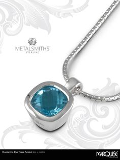 Blue topaz necklace from Marquise Collection #necklace #Metalsmiths