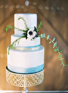 Watercolor striped cake: http://www.stylemepretty.com/little-black-book-blog/2015/05/29/rustic-elegant-wedding-inspiration-at-the-dixie-gin/ | Photography: Brandi Smyth - http://brandismythphotography.com/
