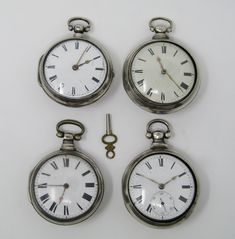 Lot of four Catalino pocket watches, mid Century. Liverpool, Pocket Watch, 19th Century, Watches, Accessories, Walking Gear, Pocket Watches, 18th Century, Twine