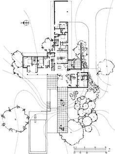 Richard Neutra Kaufmann House Floor Plans Plan for the kaufmann house