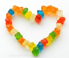 Gummy Bear Heart Photography